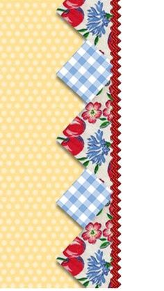 Prairie Points and Rick Rack adds such a lovely detail to a plain quilt border.