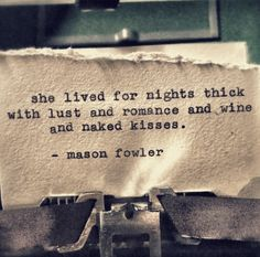 she lived for nights