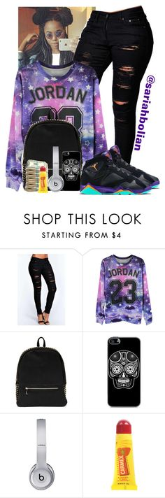 """""""Living....Young, Wild, & Free"""" by sariahbolian ❤ liked on Polyvore featuring Boohoo, Retrò, Deux Lux, Beats by Dr. Dre and Carmex"""