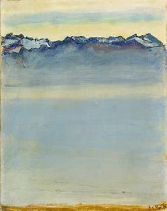 Ferdinand Hodler - Lac de Genève avec les Alpes savoyardes