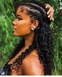 natural hair 😍 curly hair styles Grow your natural hair Faster Curly Hair Styles, Long Curly Hair, Hair Braiding Styles Black, Micro Braids Styles, Kinky Curly Hair, Pelo Natural, Natural Hair Care, Natural Hair Braids, Curly Hair Braids