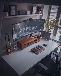 Home Studio Setup, Home Office Setup, Home Office Space, Home Office Desks, Office Decor, Computer Desk Setup, Gaming Room Setup, Pc Setup, Gaming Computer