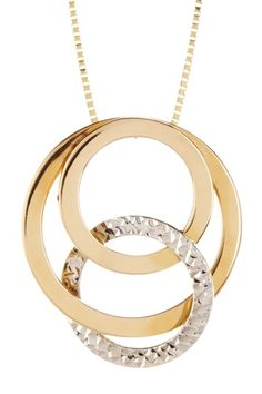 14K Yellow Gold Triana Circle Pendant Necklace