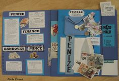 Finanční gramotnost - Lapbook 1.část Social Studies, Homeschooling, Finance, Study, Ads, Teaching, School Ideas, Biology, Learning