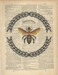 If you carefully remove the pictures of the bee and wreath with caustic soda and witch hazel you might be able to read the page