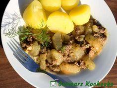 Schmorgurken mit Hackfleisch und Salzkatoffeln / Cucumber Stew with Ground Meat - #Rezept