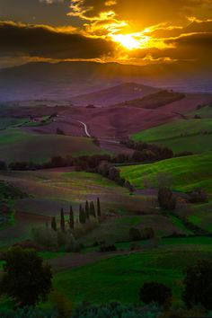 The Valley Of Green, Val d'Orcia Region, Tuscany, Italy