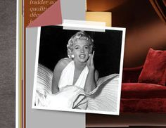 I pinned this from the Design Icon: Marilyn Monroe - Furniture & Accents Inspired by the Hollywood Starlet event at Joss and Main!