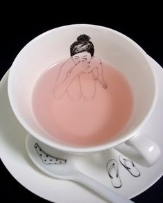 I want this xD  Take A Bath Tea Set from Picsity.com