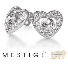 Mestige Heart and Soul Earrings made with Swarovski Elements