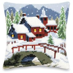 Winter Village - Cross Stitch, Needlepoint, Embroidery Kits – Tools and Supplies