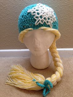 Snow+Queen+Elsa+Inspired+Rapunzel+Hat+by+Evermicha+on+Etsy,+$25.00