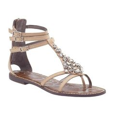 Sam Edelman Georgina Flats Sandals found on Polyvore