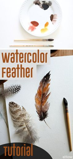 """You can paint a feather using watercolors if you follow these simple steps! Learn the """"feathering"""" effect and watch the image come to life in front of your eyes. http://www.ehow.com/how_10069732_watercolor-painting-bird-feather.html?utm_source=pinterest.com&utm_medium=referral&utm_content=freestyle&utm_campaign=fanpage"""