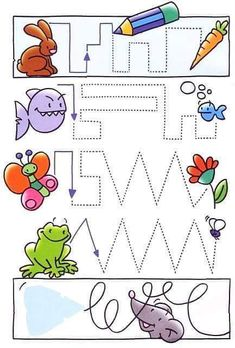 Crafts,Actvities and Worksheets for Preschool,Toddler and Kindergarten.Lots of worksheets and coloring pages. Tracing Worksheets, Preschool Worksheets, Preschool Activities, Early Learning, Kids Learning, Art Classroom Management, Handwriting Activities, We Are Teachers, Educational Activities