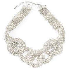 I like this silver necklace for the Bridesmaids. my-thrifty-wedding