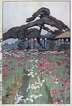 """Iris Garden In Horikiri"" by Hiroshi Yoshida, 1928"