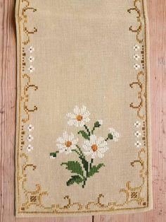 Beautiful 21 x 7 / floral / cross stitch /
