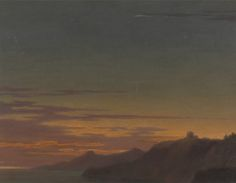 Alexander Cozens - Close of the Day Sunset on the Coast