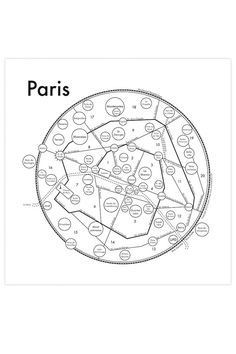"""The major gesture of Paris is the """"Escargot"""" (Spiral) arrangement of the numbered """"Arrondissements"""". That number is usually how locals refer to geography, kind of a perfect example of French provincia Paris Map, Paris Travel, France Travel, Paris France, Paris Study Abroad, My Dreams In Life, France Info, French Trip, Packing For Europe"""
