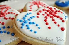 Independence Day Cookies - Fireworks Cookies