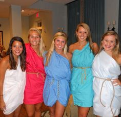 Toga costumes for the Theta Chi event!