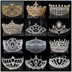 Luxury Austrian Royal Bridal Tiara Headband Wedding Pageant Crown Hair Accessory