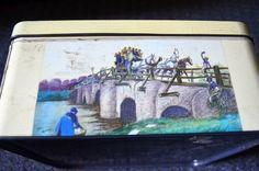Cecil Aldin print Huntley & Palmer family biscuit tin.