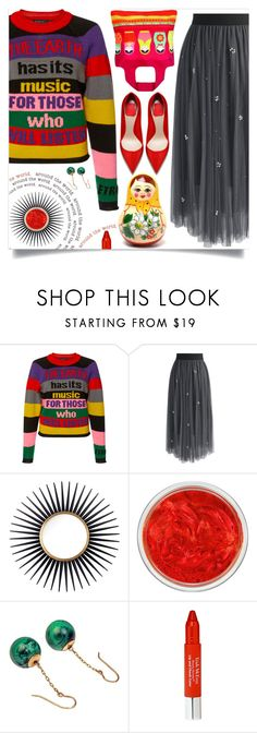 """""""Around the World"""" by wuteringheights ❤ liked on Polyvore featuring Etro, Chicwish, Mirror Image Home, MAC Cosmetics, Envirosax and Trish McEvoy"""