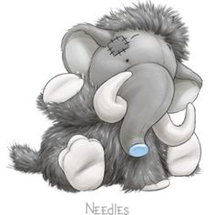 Carte Blanche - My Blue Nose Friends - Needles Woolly Mammoth Tatty Teddy, Cute Drawings, Animal Drawings, Cute Images, Cute Pictures, Baby Animals, Cute Animals, Blue Nose Friends, The Wooly
