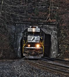 An eastbound time freight emerges from Big Four Tunnel early on a fall morning along Norfolk Southern's ex-Norfolk & Western Pocahontas District