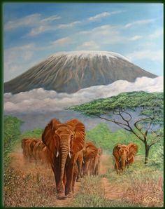Related image Kilimanjaro, Gallery Wall, Horses, Image, Animals, Painting, Google, Art, Art Background