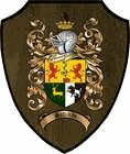 Coat of Arms Plaques / Family Crest Plaques  Single Coat of Arms / Family Crest Plaque with Beveled edge. Choose any of our 1 million plus coats of arms. Measures approximately 9.25 inches tall.