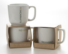 mugs from recycled clay. ? Cool packaging