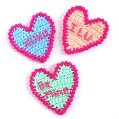 Red Berry Crochet: An Early Valentine Just For You! Candy Heart Crochet Pattern