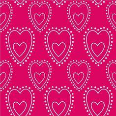 Disney Princess Sorbet Love Children's Pink Heart Motif Wallpaper