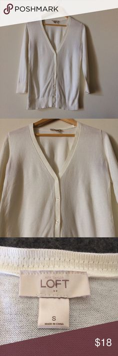 LOFT Cardigan Excellent condition, perfect for spring. LOFT Sweaters Cardigans