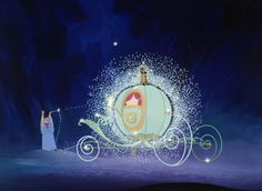 Use your imagination. Some people might see a few mice and a pumpkin, but with a little help from her Fairy Godmother, Cinderella saw a carriage and footmen. Not. too. shabby.