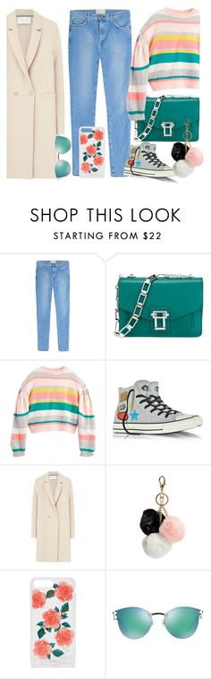 """""""Untitled #666"""" by vanesa-roznikova ❤ liked on Polyvore featuring Current/Elliott, Proenza Schouler, Converse, Harris Wharf London, GUESS, Sonix and Fendi"""