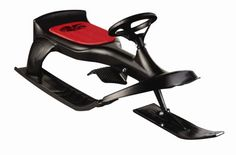 Flexible Flyer PT Blaster . Sleek snow sled with fully functional steering wheel. Lets you steer clear of moguls, dips, and other obstacles. Spring-activated brake helps maintain control. Recommended for ages 4 and older