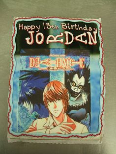 I want this guys family, idc about the cake. I want a family that doesn't judge me for being an Otaku. Birthday List, Birthday Cakes, Birthday Ideas, Anime Cake, Anime Suggestions, Otaku Issues, Shinigami, Anime Kawaii, Manga