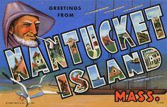 Nantucket Island, Massachusetts; vintage postcard booklet