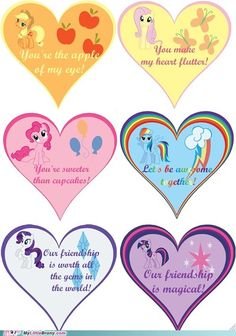 My Little Valentine - Friendship is Magic My Little Pony Fotos, My Little Pony Pictures, Mlp My Little Pony, My Little Pony Friendship, Homemade Valentines, Valentines Day Party, Valentine Crafts, Nerdy Valentines, Fiesta Little Pony