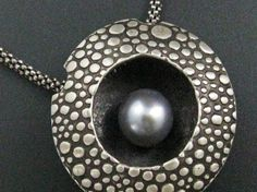 Floating Pearl Rain Pendant Necklace by maggiebokor