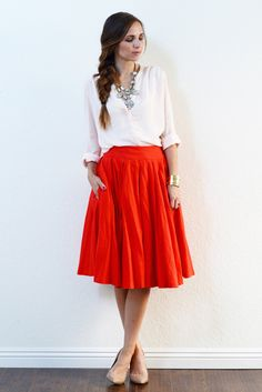 This Blush and Red Combo Is Perfect!