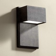 Upgrade your outdoor lighting system with this modern energy-efficient LED wall light. Extends 4 from the wall. Distance from mounting point to the top of the fixture is 4 Style # at Lamps Plus. Outdoor Wall Light Fixtures, Exterior Light Fixtures, Led Outdoor Wall Lights, Exterior Wall Light, Led Light Fixtures, Exterior Lighting, Outdoor Walls, Outdoor Lighting, Contemporary Outdoor Wall Lights