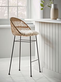 New Home Decor Kitchen Stools, Wooden Bar Stools, Kitchen Counter & Breakfast Bar Stools UK The Art Decor, Stool, Modern Home Furniture, Wicker Counter Stools, Rattan Stool, Wicker