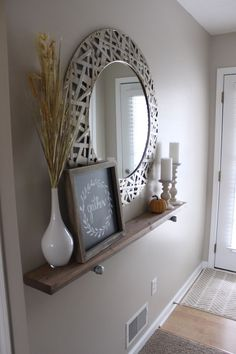 Shabby Chic Wooden Runner Entry Table Idea Entryway and Hallway Decorating Ideas Chic Entry idea Runner Shabby Table wooden Decor, Interior, Living Decor, Entryway Decor, Home Decor, House Interior, Room Decor, Apartment Decor, Home Deco