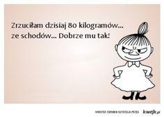 Śmieszne materiały na Kwejk.pl - kliknij po więcej! Motivational Quotes, Inspirational Quotes, Life Motto, Life Words, Little My, Humor, Good Mood, Never Give Up, Quotations