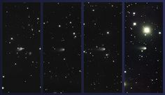 Comet ISON Hurtling Toward Uncertain Destiny With The Sun  Images of Comet ISON obtained using the Gemini Multi-Object Spectrograph at Gemini North on February 4, March 4, April 3, and May 4, 2013 (left to right, respectively; Comet ISON at center in all images).
